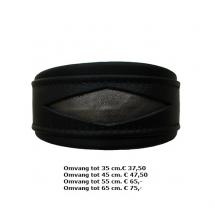Halsbastoer zwart met brons
