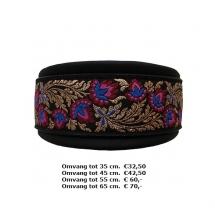halsband, bloemen, kleuren, goud, zwart, windhond, whippet