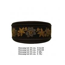 bruine halsband, martingale, bloemen, elegant, winhond, galgo, podenco