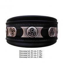 halsband, stoer, zwart, Dalmatiër, Dobermann