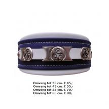 halsband, metalen, ijzers, ornamenten,paars, wit