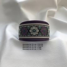 halsband bloemen, paars, wit, lederen, vrolijke halsband, galgo
