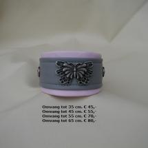 halsband, vlinder, pastelkleuren, lila, roze, whippet
