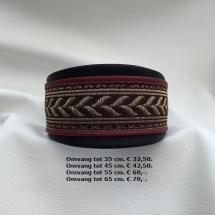 halsband, visgraat, rood, mays halsbanden