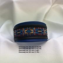 blauwe halsband, vrolijke kleuren