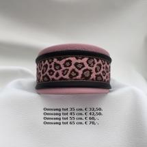 halsband, tijgerprint, roze, windhond, galga