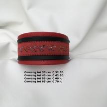 rood, zwart, halsband windhonden motief,