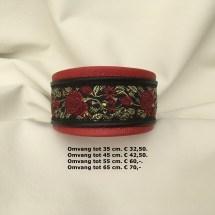 halsband, leder, rood, rozen, galgo, galga